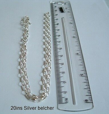 New 925 Sterling Silver Chain 20ins long Belcher necklace gift bag