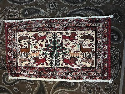 Middle Eastern Persian Hand Woven Wool Prayer Rug