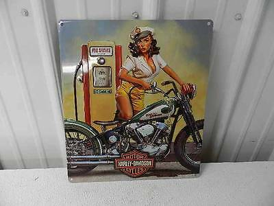 NEW OEM Harley-Davidson Full Service Metal Tin Sign Embossed New Garage Shop Bar