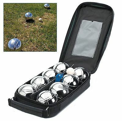 8pk Stainless Steel French Boules Balls Set Petanque Garden Game with Carry Case