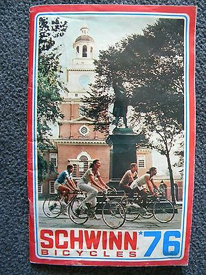Vintage 1976 Schwinn Bicycles And Accessories Catalog And Update Sheet 62 Pages