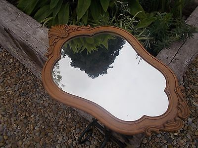 Beautiful Very Large French Vintage Oak Mirror Ref T11/25