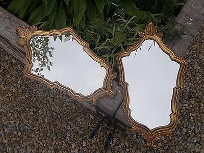 Pair Beautiful Large French Vintage Gold Gilt Baroque Mirrors Ref T11/28