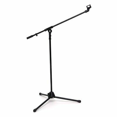 Professional Microphone Mic Stand Boom Holder Mount Adjustable + 2 Clips Tripod