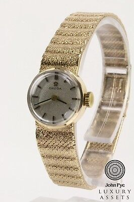 """OMEGA"" Stunning Ladies Solid Gold Watch and Gold Bracelet"