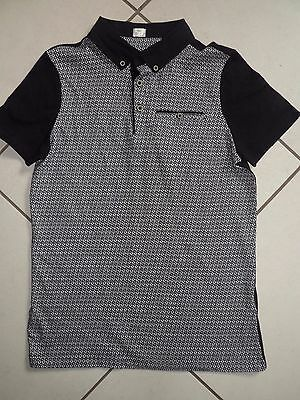 New Boys Casual Black And White Collared Top Age 12-13 Years Bnwot