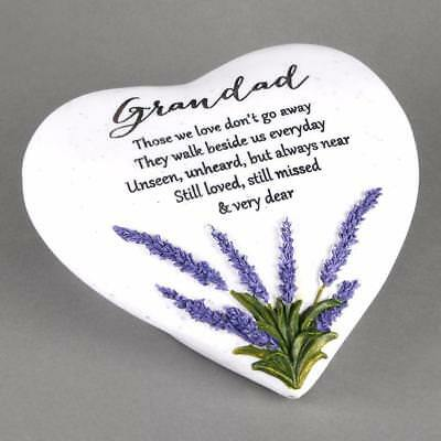 Grandad Memorial Remembrance Heart Lavender Plaque Ornament 61969
