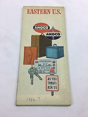 Vintage 1960's American Amoco Oil Advertising Promotional Easter US Map