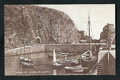 C1960s View: Boats, Interior Harbour, Sark