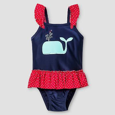 Toddler Girls' Whale One Piece Swimsuit - Cat & Jack™ Navy