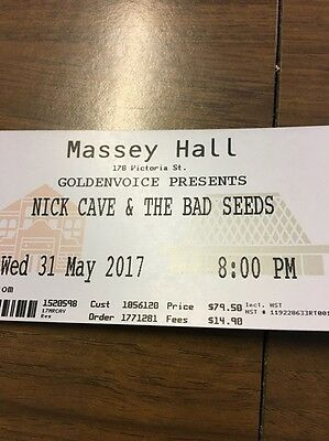 3 Tickets to Nick Cave & The Bad Seeds in Toronto May 31st!