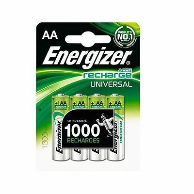 4 x Energizer AA 1300mAh RCAA1300 Rechargeable Batteries