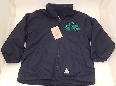*SHOP SOILED** British Country Collection Navy Lined Tractor Jacket 5-6 Years