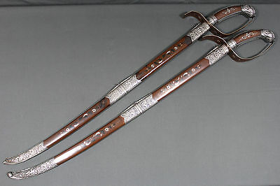 Wonderful pair of Vietnamese ceremonial guom swords - Late 19th early 20th