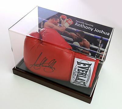 Anthony Joshua Signed Boxing Glove Display Case Autograph Champion Memorabilia