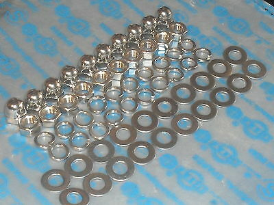 Vespa Stainless Steel Domed + Flat Wheel Nuts & Washers 60 Piece Kit