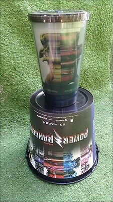 Power rangers Cup Bucket Drink Mighty Morphin Icy Mugg Suction Movie Color Black