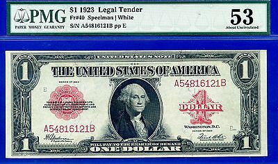 --FR-40 1923 $1  (( US Note )) PMG About-UNC 53 ** Red Seal ** # A54816121A