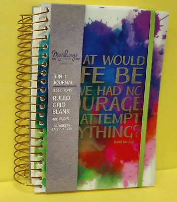 "C.R. Gibson MJN-17406 Markings 3-in-1 Journal 8 1/2""x 6""  Free S/H"