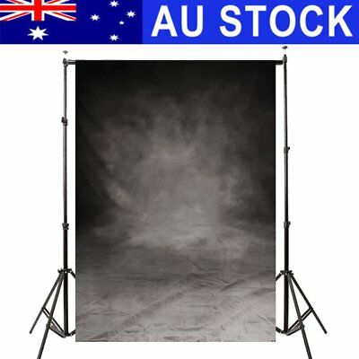 AU 5x7FT Retro Old Grey Black Wall Photography Backdrop Studio Photo Background