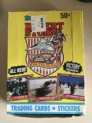 1991 Topps Desert Storm Victory Series 36 count Unopened Cards in Box