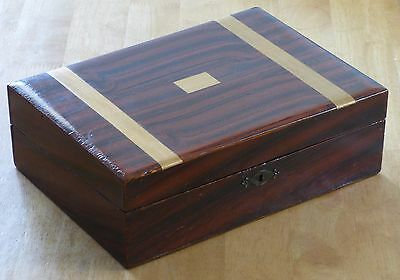 Antique / Vintage Faux Rosewood, Pitch Pine Writing Box / Slope