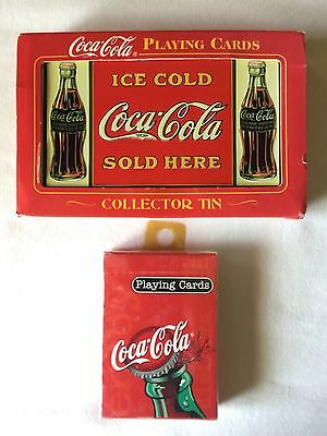 Coca-Cola Coke 2 Sets Playing Cards Sealed in Collector Tin w/ Extra Sealed Set