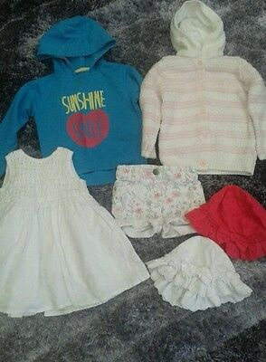 Girls bundle of clothes age 12-18 & 18-24mths