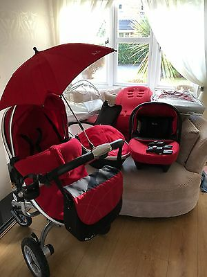 Silvercross Surf 2 Pram, Carrycot, Car Seat And Accessories