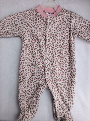 BABY GIRLS FLEECED BABYGROW AGE 0-3 MONTHS UP TO 62cm