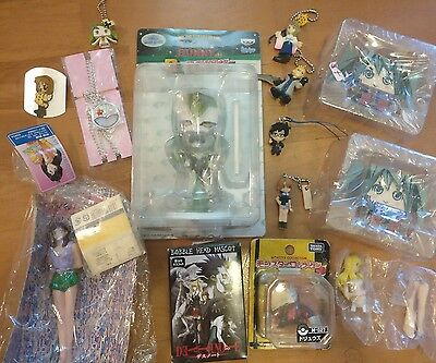 Anime Mini Figure Lot Set Keychain Final Fantasy 10 X Tiger and Bunny Vocaloid