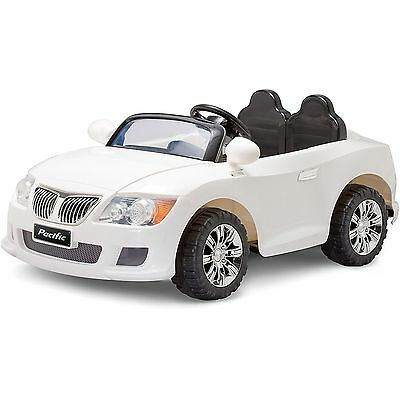 Pacific Cycle 12-Volt Battery-Powered Convertible Sports Car White