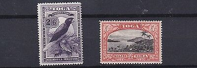 Tonga  1897     S G  52 & 53     Values To 5/-   Mh  Lightly Disturbed Gum