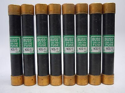 New Lot of 8 NOS-15 amp One-Time Fuse