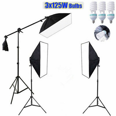 50cm Photography Studio Soft Box Lighting Cube Tent Backdrop Camera Stand Light