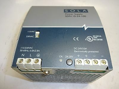 Sola Sdn-10-24-100 Power Supply 24Vdc Used