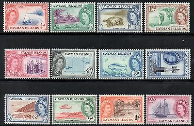 Cayman Islands 1953-62 QEII Definitive Pictorial Set  SG.148/159 Mint (Hinged)