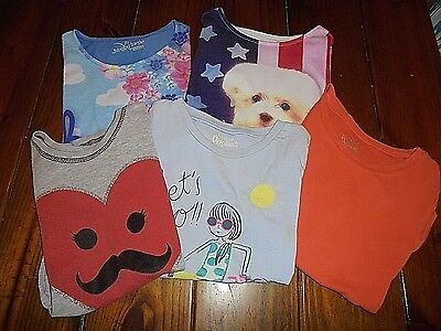 Lot of 5 Girls size 7 Spring/Summer Tops Jumping Bean Justice Cute!