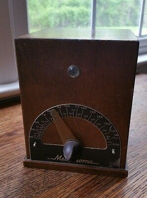 Vintage Crystalab METRONOMA MUSIC WOOD CASE Metronome WORKS
