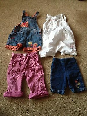 Girls Toddlers Dungaree Shorts Bundle Size 12-18 Months TU M&S Adams