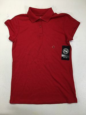 Girl's Red Short Sleeve School Uniform Polo Shirt Size XL 14-16