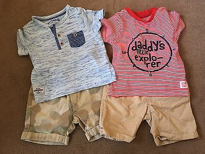 Mothercare T Shirts 6-9 Months & Next Shorts