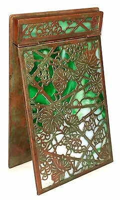 Tiffany Studios Green Grapevine Notepad Holder for Desk Set Memo Pad