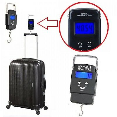 50kg Portable Electronic Digital Weighing Scale Handheld Travel Suitcase Luggage
