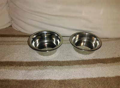 2 gamelle inox  pour chat