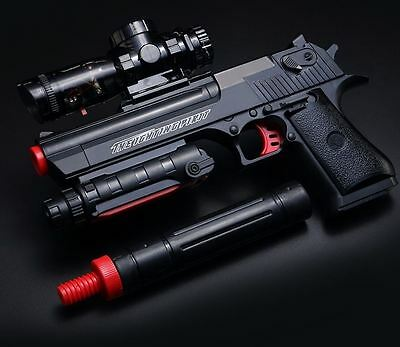 Desert Eagle Gel Ball Toy Gun - Black with USB charge and bullets free postage!