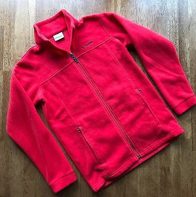Columbia Fleece Jacket Size L 14/16 Red