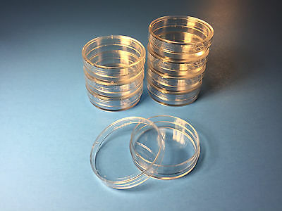 20 X Sterile Polystyrene Plastic Petri Dishes Plate With Lids 35x10mm