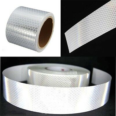 Roll Durable White Warning Tape Conspicuity Reflective Safety Sticker Car Film