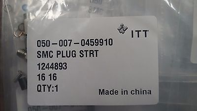 Lot of 10 ITT CANNON 050-008-0189-910 RF SMC 50 Ohm Coax Connector RG179